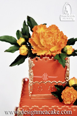 Orange/Peonies