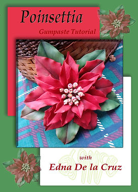 Learn to make gumpaste poinsettia flowers
