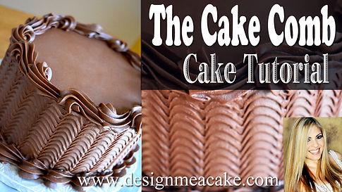 Learn yo use a cake comb