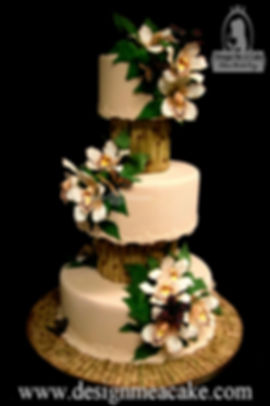 Bamboo and Orchid cakes