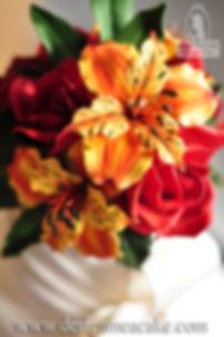 Alstroemeria gumpaste flower