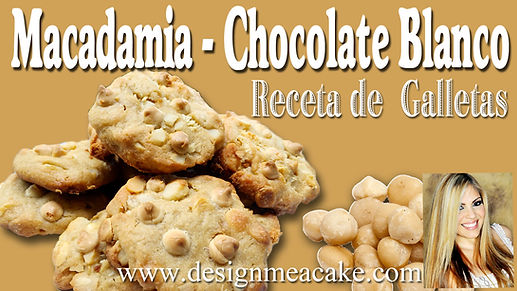 Receta de galleta de macadamia y chocolate blanco