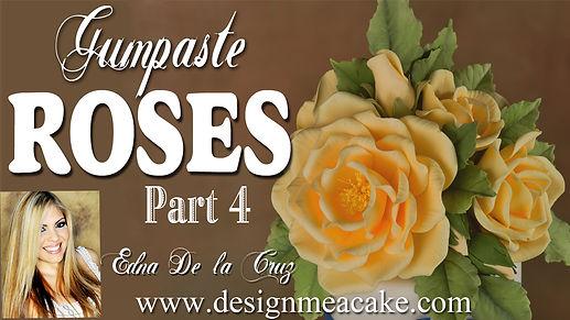 Gumpaste Rose Tutorial- Part 4
