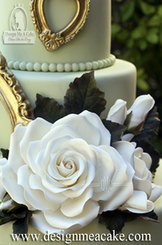 White Gumpaste Rose