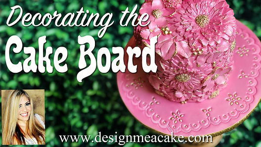 Learn how to cover the cake boards for your cakes in fondant