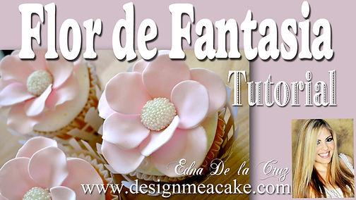 Tutorial de Flor de Fantasia en gumpaste