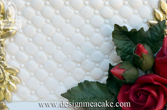 Quilted look cake design