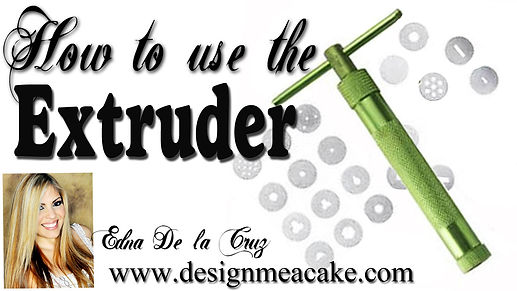 Learn to use the Extruder with gumpaste