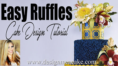 Easy Ruffles Cake Design
