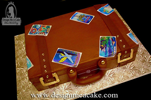 Buttercream Suitcase Cake