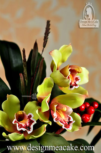 Cymbidium Orchid in Sugar