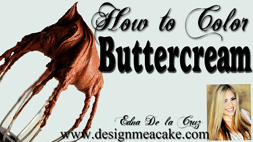 Learn how to color buttercream