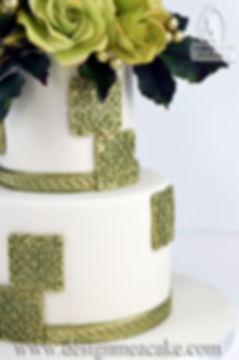 Spanish tiles cake design