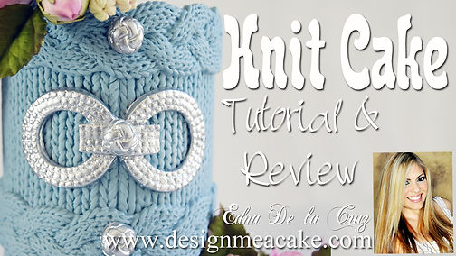 Learn how to mae a knit Cake decoration
