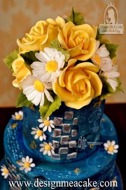 Yellow Roses in Sugar