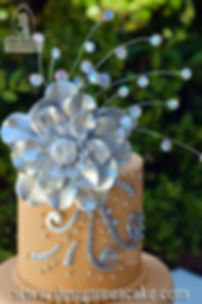 Fantasy silver flower