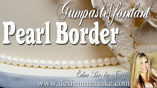 Learn to make Gumpaste Pearls