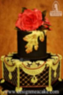 Black Lace Cake