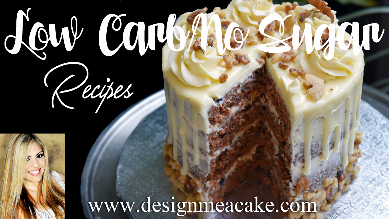 Low Carb/No Sugar Carrot Cake
