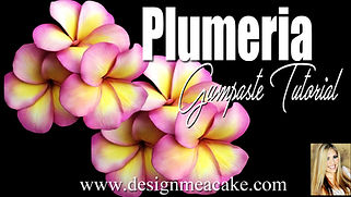 Gumpaste Plumeria