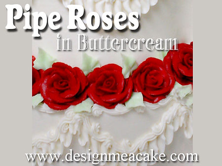 Learn How to Pipe Roses for your Cakes.