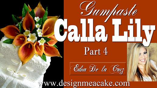 Calla lilies in gumpaste tutorial