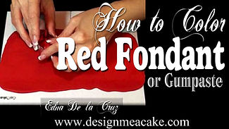 Red gumpaste tutorial