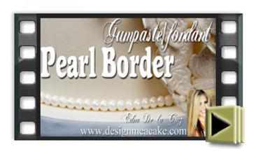 Gumpaste pearls for cakes