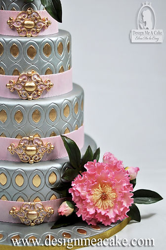 Silver and Gold Cake