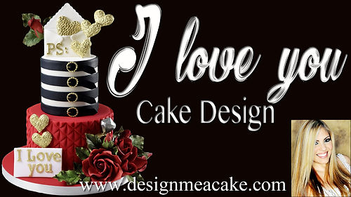 I love you cake design