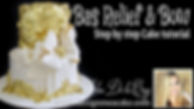 Learn to make a bas relief cake and bow