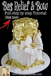 Bas Relief & Bow cake tutorial