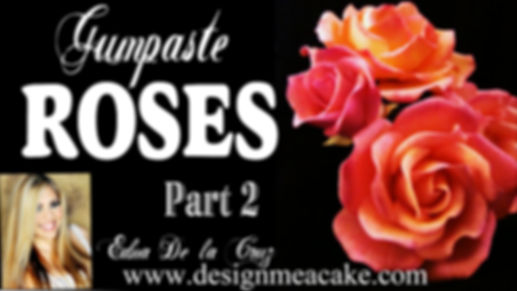 Gumpaste Rose Tutorial Part 2