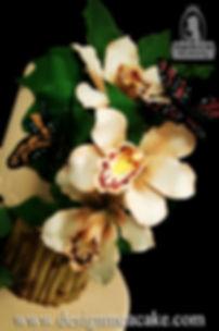 Gumpaste butterflies and orchids