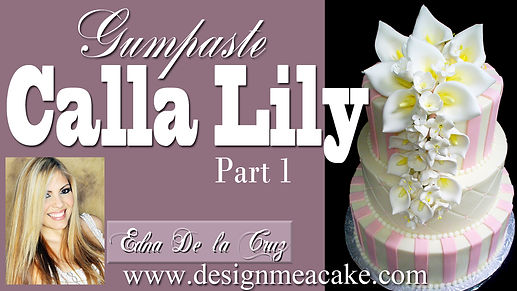 Calla Lily Gumpaste Tutorial- Part 1
