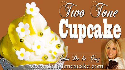 2 tone piped cupcake tutorial