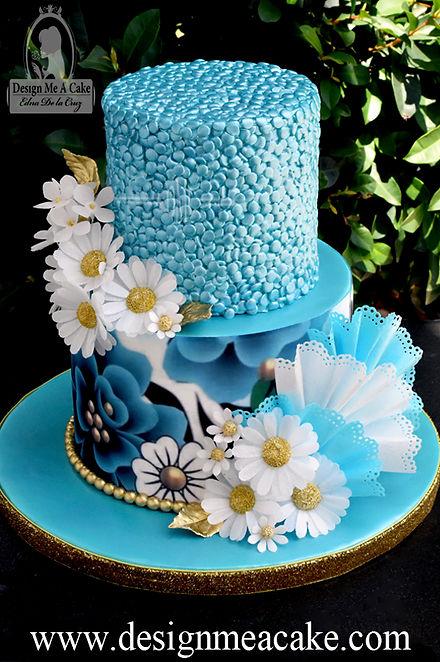 Confett cake design