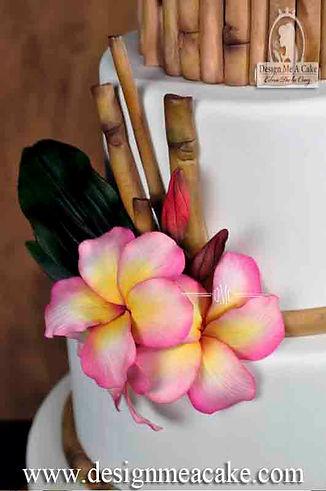 Bamboo cake design