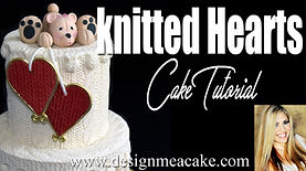 knitted hearts tutorial