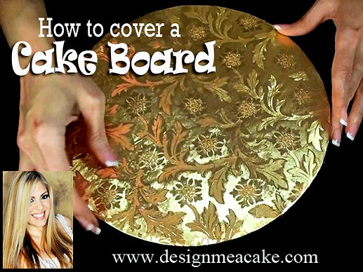 Learn how to cover the cake boards for your cakes