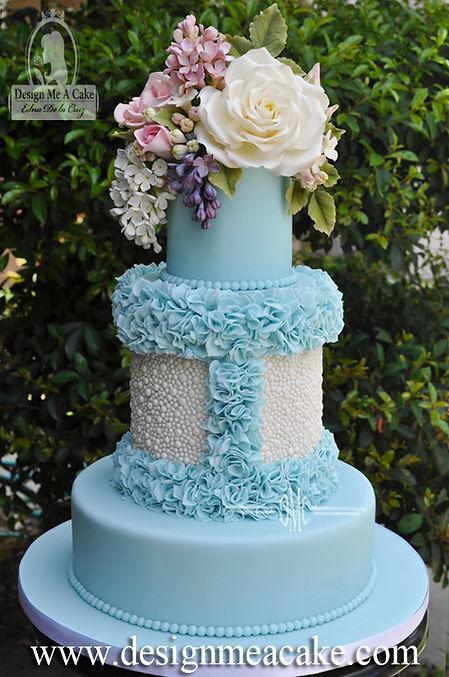 Beautiful hand painted cake