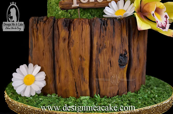 Fondant wood tutorial
