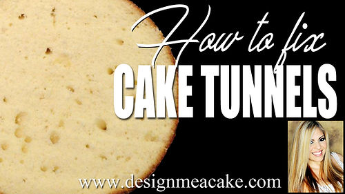 How to fix Cake tunnels- Basic baking troubleshooting