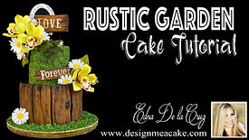 Decorate a cake with a rustic look