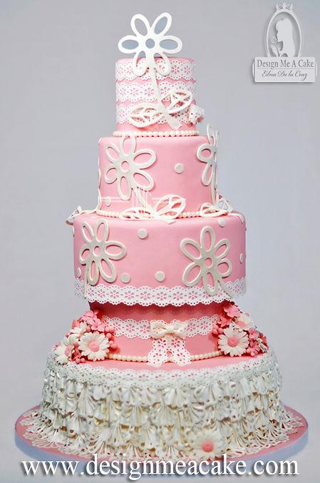Sugar Veil Ruffle cake