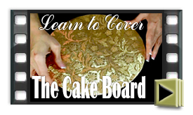 Covering the Cake Board