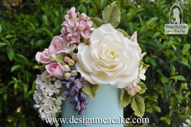 White Giant Rose in Gumpaste