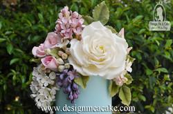 White Giant Rose in Gumpaste