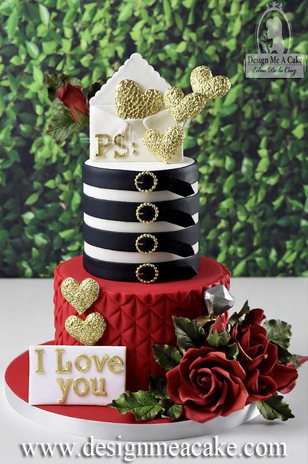 Engagement Cake Design