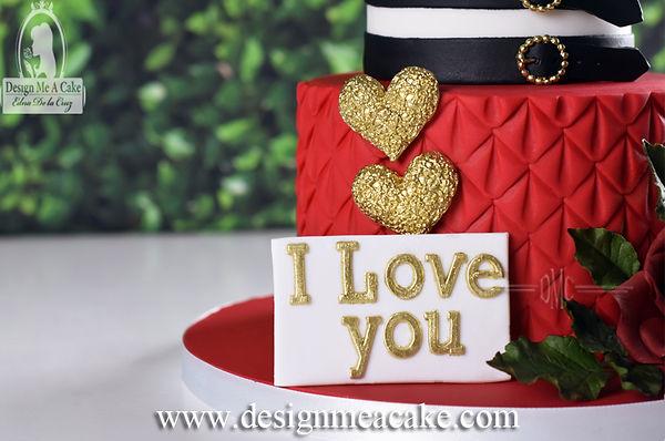 I love you cake design